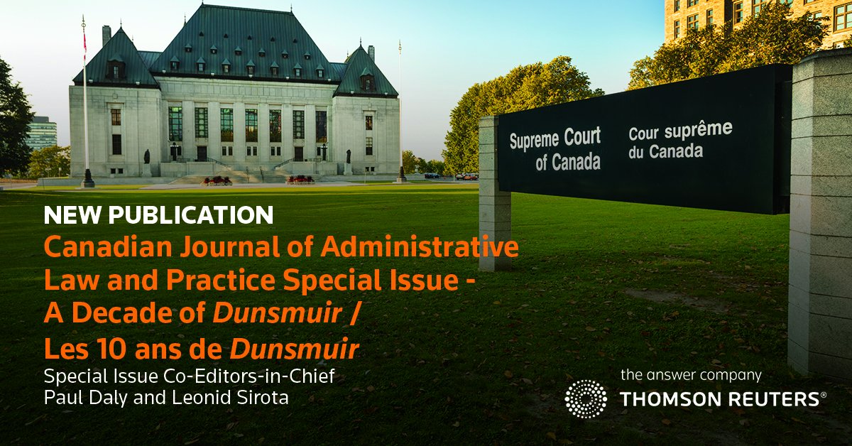 The Supreme Court Of Canada S Administrative Law Trilogy